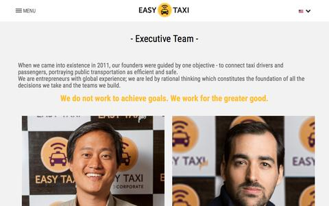 Screenshot of Team Page easytaxi.com - Our Team - Easy Taxi - captured Nov. 10, 2015