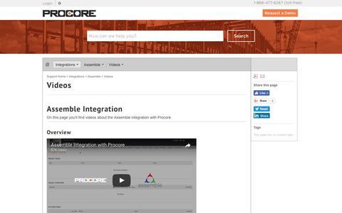 Videos - Procore
