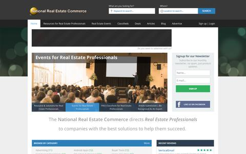 Screenshot of Home Page nationalrealestatecommerce.com - National Real Estate Commerce | Real Estate Professional's #1 Resource for Business Solutions - captured Jan. 31, 2015