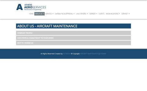 Screenshot of About Page aircraftmaintenance.gr - AIRCRAFT MAINTENANCE COMPANY - captured July 6, 2018
