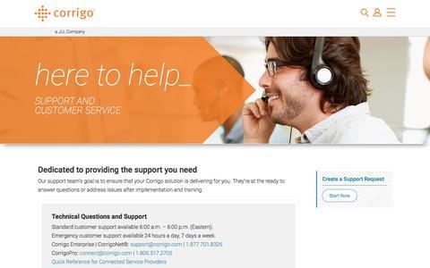 Support | corrigo.com