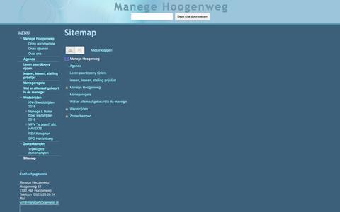 Screenshot of Site Map Page google.com - Sitemap - Manege Hoogenweg - captured Dec. 29, 2016