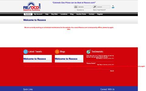 Screenshot of Site Map Page rexoco.com - Offline - captured Oct. 8, 2014