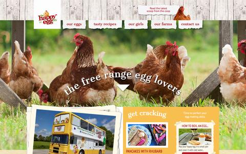Screenshot of Home Page thehappyegg.co.uk - The Happy Egg Company UK - Free range eggs are happy eggs! - captured Feb. 20, 2016