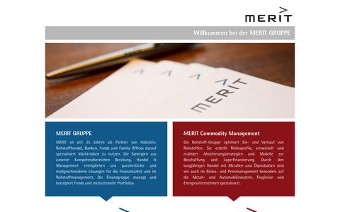 Screenshot of Home Page meritgroup.at - Merit Gruppe Portal - captured Dec. 22, 2015