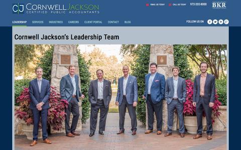 Screenshot of Team Page cornwelljackson.com - Cornwell Jackson's Leadership Team – Cornwell Jackson - captured Dec. 12, 2015