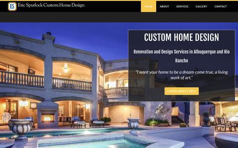 Screenshot of Home Page ericspurlock.com - Eric Spurlock Custom Home Design - Home - captured April 22, 2018