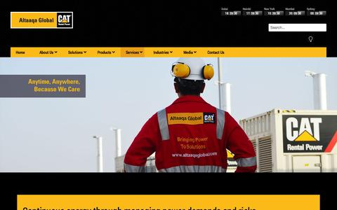 Screenshot of Services Page altaaqaglobal.com - Altaaqa Global - Services - captured Oct. 4, 2014