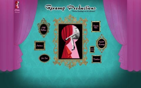 Screenshot of Home Page revampproductions.com - Revamp Productions - Home - captured Oct. 8, 2014