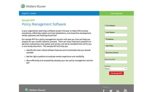 Screenshot of Landing Page datacert.com - Sample RFP: Policy Management Solution - captured Aug. 17, 2016