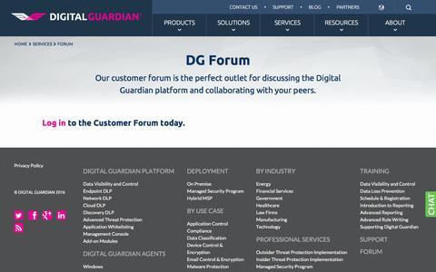 Digital Guardian Customer Support Forum | Digital Guardian