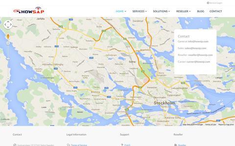 Screenshot of Contact Page howsip.com - Contact Us - captured Sept. 30, 2014