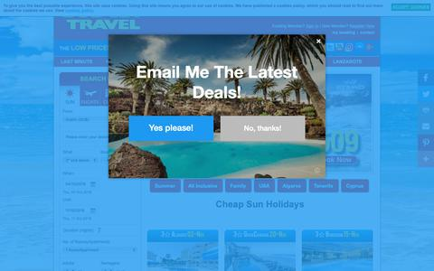 Screenshot of Home Page budgettravel.ie - Sun Holidays 2018 / 2019, Cheap Holidays 2018 / 2019 from Dublin, Cheap Sun Holiday Packages, All Inclusive Sun Package Holidays from Dublin and Cork, Ireland - Budget Travel - captured Sept. 27, 2018