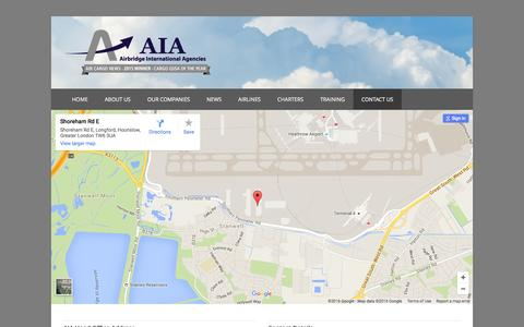 Screenshot of Contact Page aiacargo.com - Contact Us | Airbridge International Agencies - captured Feb. 5, 2016