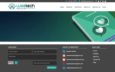 Screenshot of Services Page weetechsolution.com captured Oct. 20, 2015