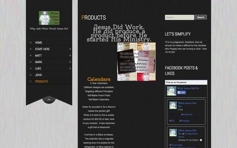 Screenshot of Products Page whatjesusdiddo.com - Products | The Christ Has Done It - captured Oct. 29, 2014