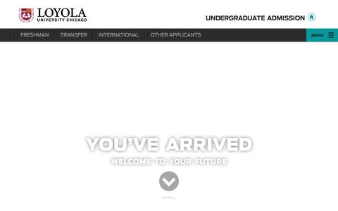 Loyola University Chicago | Undergraduate Admission