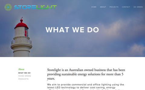Screenshot of About Page storelight.com.au - What We Do - captured Oct. 7, 2014