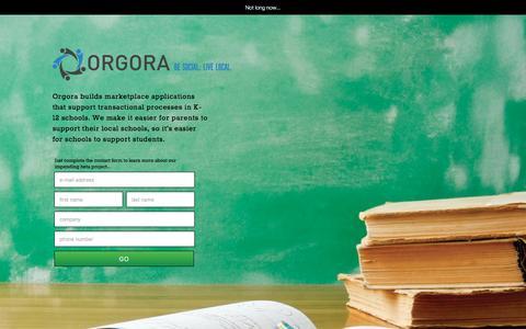 Screenshot of Home Page orgora.com - ORGORA - captured Feb. 17, 2016
