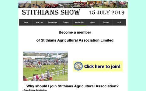 Screenshot of Signup Page stithiansshow.org.uk - Join the Association - captured Oct. 20, 2018