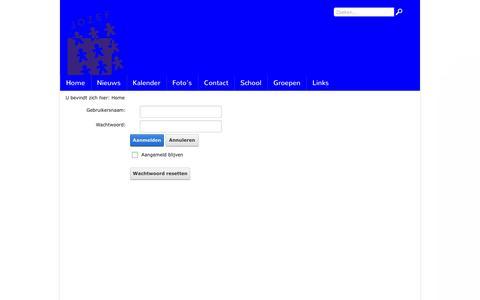 Screenshot of Login Page jozefschoolhvh.nl - Inloggen - captured May 28, 2016