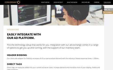 Publishers | Integrations | Conversant