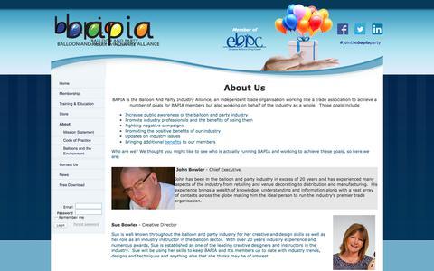 Screenshot of About Page bapiaonline.com - BAPIA Ltd - About - captured Sept. 19, 2017