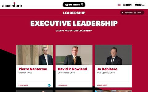 Screenshot of Team Page accenture.com - Our Executive Leadership Team - captured Jan. 4, 2018