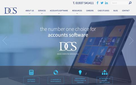 Screenshot of Home Page deansplc.co.uk - Deans Computer Services | Accounting software specialists - captured Feb. 8, 2016