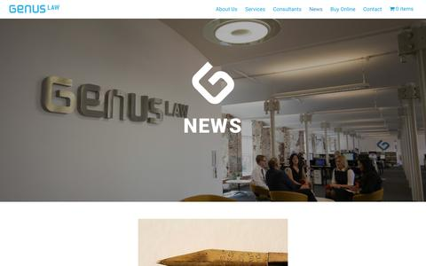 Screenshot of Press Page genuslaw.co.uk - News - Genus Law - Legal Services - captured May 16, 2017