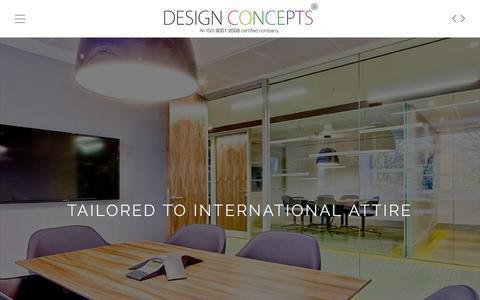 Screenshot of Home Page designconceptsworld.com - Design Concepts | Bangalore | Cochin | Dubai - captured Jan. 23, 2016