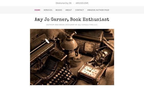 Screenshot of Home Page amyjogarner.com - Amy Jo Garner, CLXO, AJG Consulting LLC - captured Oct. 23, 2017