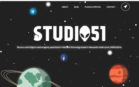 Screenshot of Home Page creative-studio51.co.uk - Studio51 Creative Services - captured Oct. 9, 2014