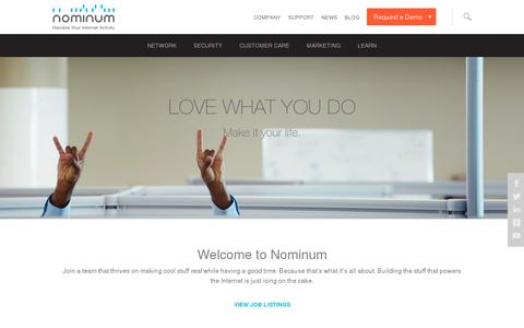 Screenshot of Jobs Page nominum.com - Careers   Nominum - captured July 21, 2014