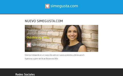 Screenshot of Blog simegusta.com - Próximamente un nuevo simegusta.com - captured Oct. 7, 2014