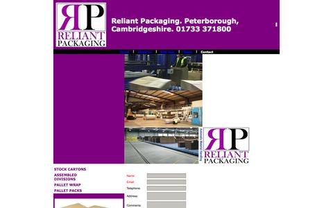 Screenshot of Contact Page reliantpackaging.co.uk - packaging,cartons,print,peterborough,cambridgeshire - captured Oct. 9, 2014