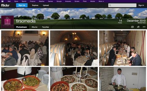 Screenshot of Flickr Page flickr.com - Flickr: tirsomedia's Photostream - captured Oct. 26, 2014