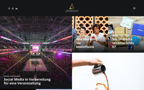 Screenshot of Blog appateat.com - Blog - APPATEAT Digitalagentur - captured Oct. 4, 2018