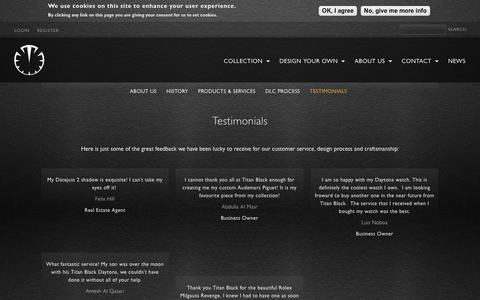 Screenshot of Testimonials Page titanblack.co.uk - Testimonials | Titan Black - captured June 15, 2017