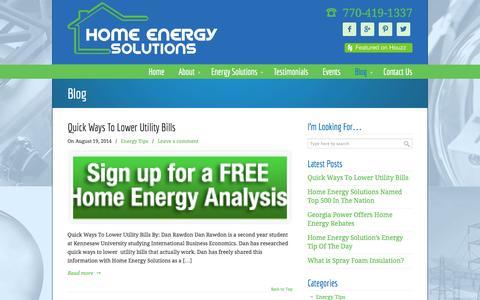 Screenshot of Blog hesnow.com - Blog • Home Energy Solutions - captured Oct. 3, 2014