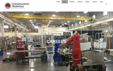 Screenshot of Jobs Page construction-robotics.com - Careers – Construction Robotics - captured July 21, 2018
