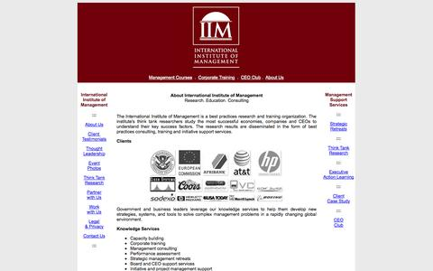 Screenshot of About Page iim-edu.org - International Institute of Management - Management Training  Institute in Las Vegas, USA - captured Nov. 3, 2014