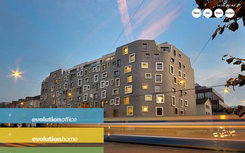 Screenshot of Home Page camenzindevolution.com - Architecture - Technology - Design - Camenzind Evolution - captured Sept. 27, 2014