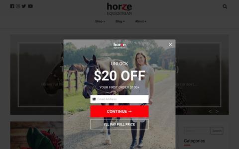 Screenshot of Blog horze.com - Horze Equestrian Blog - captured Nov. 8, 2019