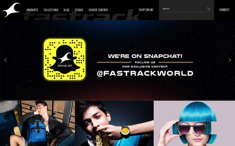 Screenshot of Home Page fastrack.in - Fastrack - Largest & Trendiest Youth Fashion Brand in India - captured June 21, 2017