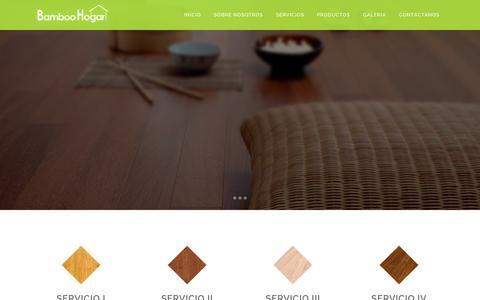 Screenshot of Home Page bamboohogar.com - Bamboo Hogar | Tu piso en Bamboo en Panama - captured Sept. 10, 2015
