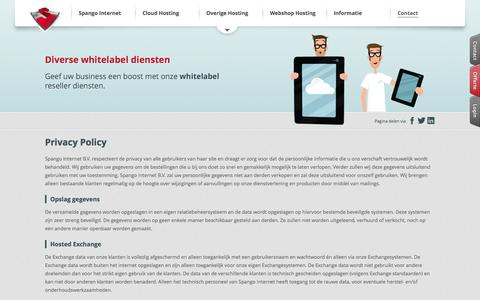 Screenshot of Privacy Page spango.com - Privacy Policy - captured Nov. 2, 2014