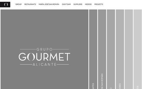 Screenshot of Home Page grupo-gourmet.com - Grupo Gourmet Alicante - captured Oct. 3, 2014