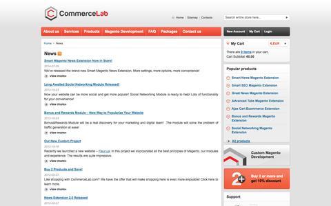 Screenshot of Press Page commerce-lab.com captured Oct. 2, 2014