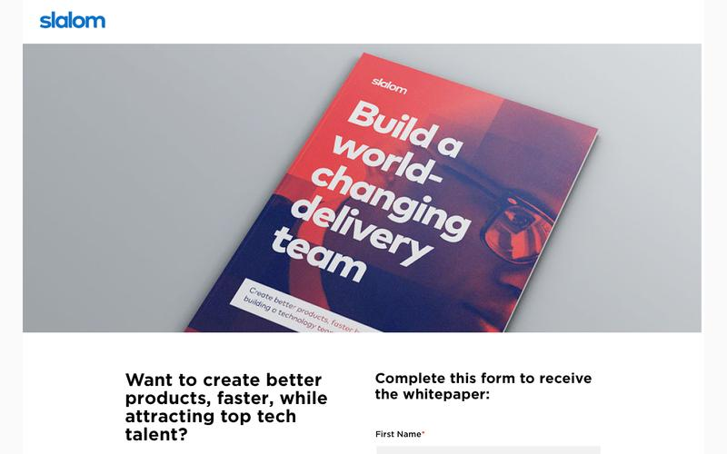 Build a world-changing delivery team